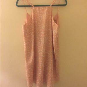 FOREVER21 STRAPPY PINK FLORAL SHIFT DRESS SMALL